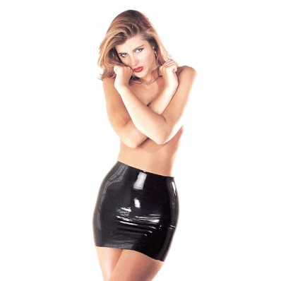 LATEX MINISKIRT