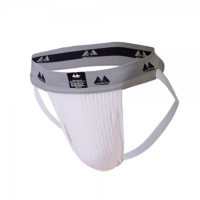 Bike Jockstrap White with 2 Inch Band