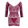 Mandy Mystery Purple Sheer Lace Dress One Size 8 to 14 UK