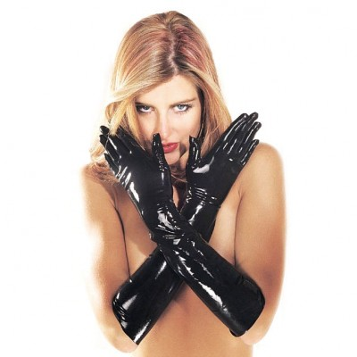 LATEX GAUNTLETS