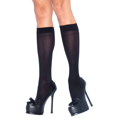 Leg Avenue Nylon Knee Highs Black
