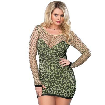Leg Avenue Seamless Leopard Minidress UK 1618