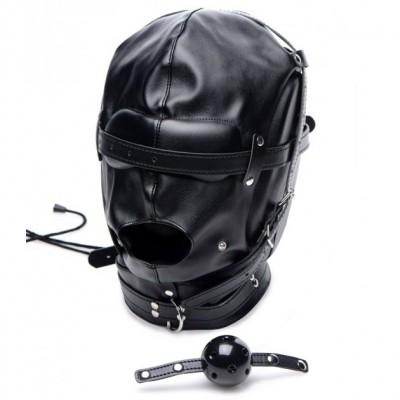 Strict Bondage Hood With Breathable Ball Gag