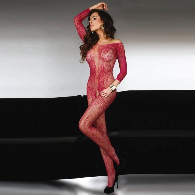 Corsetti Abra Bodystocking Maroon UK Size 812