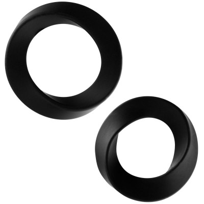 Rock Rings The Hellfire ll 2 Pack Black Cock Rings
