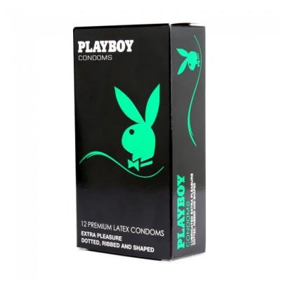 PlayBoy Extra Pleasure Condom 12 Pack