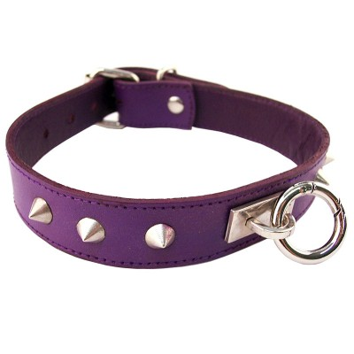 Rouge Garments Purple Studded ORing Studded Collar